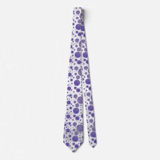 Lunar de la mancha del arándano corbatas personalizadas
