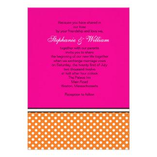 Lunar de la mandarina e invitación rosada del boda