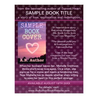 """Lunar de la púrpura de la promoción del libro del folleto 8.5"""" x 11"""""""