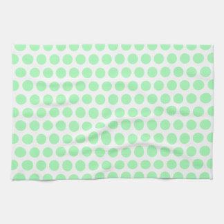 Lunar de la verde menta toalla de cocina
