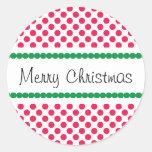 Lunar de las Felices Navidad Etiqueta Redonda