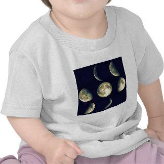 ~ lunar de los ciclos la luna camisetas