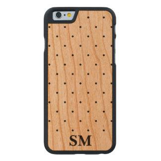 Lunar de madera de los casos del iPhone 6 del Funda De iPhone 6 Carved® De Cerezo