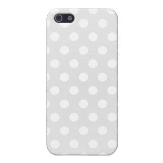 lunar del blanco de la caja de la mota del iPhone  iPhone 5 Carcasa