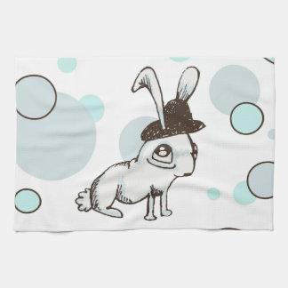 lunar del conejito de los años 20 toallas de cocina