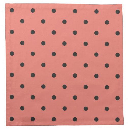 Lunar del coral del estilo de los años 50 servilletas de papel