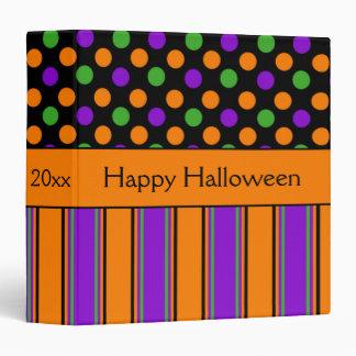 """Lunar del feliz Halloween rayado personalizado Carpeta 1 1/2"""""""