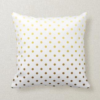 Lunar del oro blanco almohadas