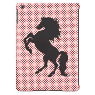Lunar del rojo del caballo funda para iPad air