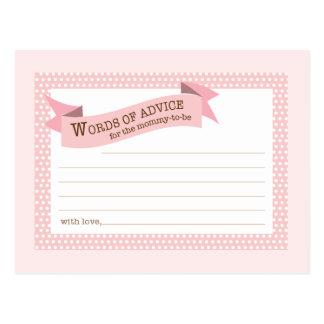 Lunar del rosa de la tarjeta del consejo de la mam postal
