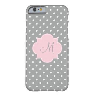 Lunar del rosa gris, blanco y en colores pastel funda de iPhone 6 barely there