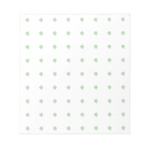 Lunar del trébol blocs de notas