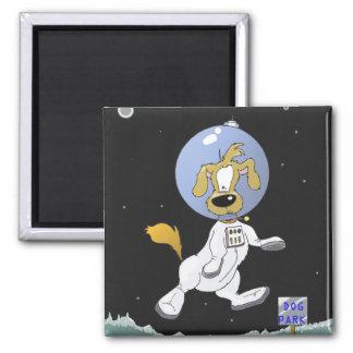 Lunar Dog Park Fridge Magnet