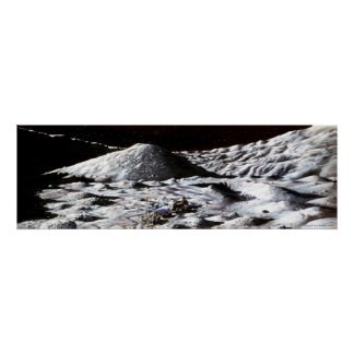 Lunar Drilling Exploration Poster
