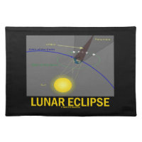 Lunar Eclipse (Astronomy Attitude) Cloth Place Mat
