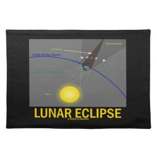 Lunar Eclipse (Astronomy Attitude) Cloth Placemat