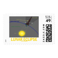 Lunar Eclipse (Astronomy Attitude) Postage Stamp