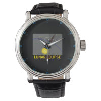 Lunar Eclipse (Astronomy Attitude) Wristwatch