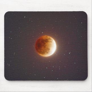 Lunar Eclipse Blood Moon Mouse Pad