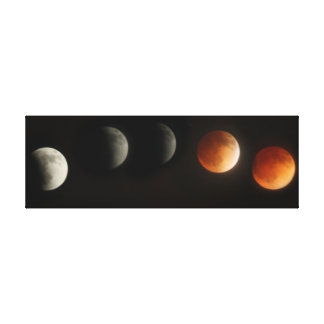 Lunar eclipse canvas print