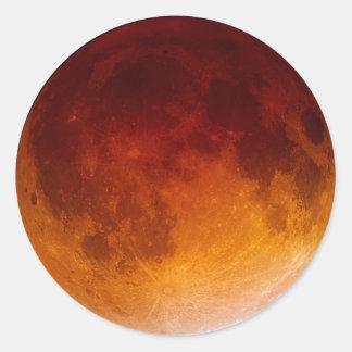 Lunar Eclipse Close Up Classic Round Sticker