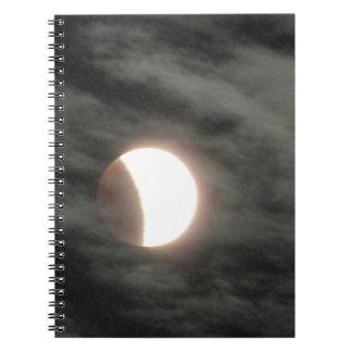 Lunar Eclipse in Clouds Notebook