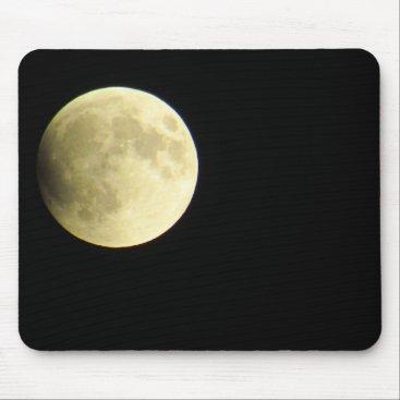 Beach Themed Lunar Eclipse Mouse Pad