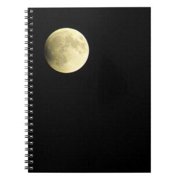Beach Themed Lunar Eclipse Spiral Notebook
