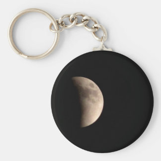 Lunar Eclipse with Craters Keychain