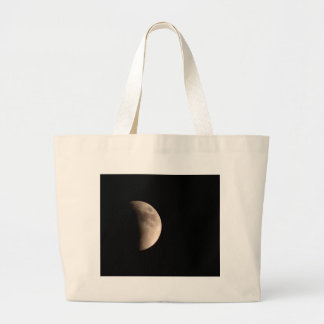 Lunar Eclipse with Craters Large Tote Bag