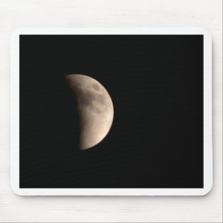 Lunar Eclipse with Craters Mouse Pad