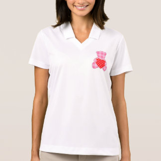 lunar femenino azul k de moda de peluche del rosa camisetas polos
