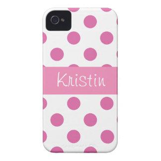Lunar femenino rosado Iphone 4 casos iPhone 4 Case-Mate Cárcasa