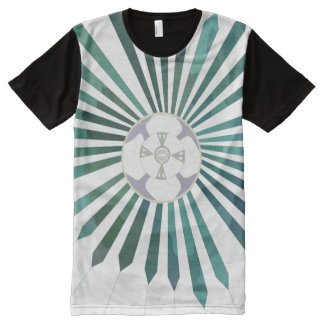 Lunar Flower All-Over-Print T-Shirt