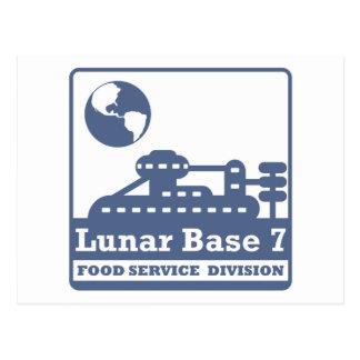 Lunar Food Service Division Postcard