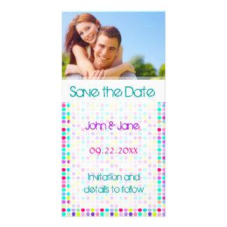 "Lunar/foto ""reserva la fecha "" tarjeta con foto personalizada"