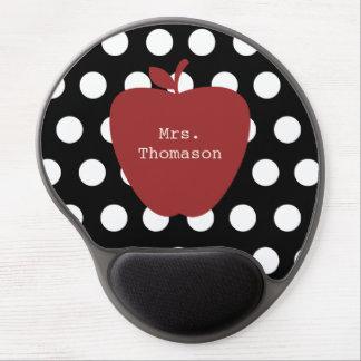Lunar + Gel rojo Mousepad del profesor de Apple Alfombrilla De Raton Con Gel
