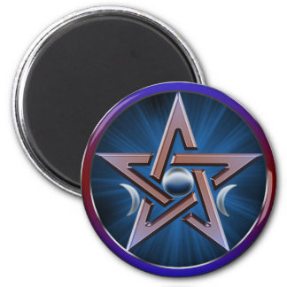 Lunar Goddess Pentagram Magnet
