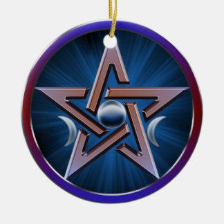 Lunar Goddess Pentagram Ornament