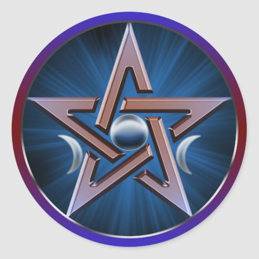 Lunar Goddess Pentagram Sticker