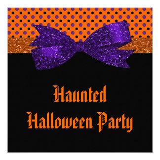 Lunar Halloween negro púrpura anaranjado Comunicados