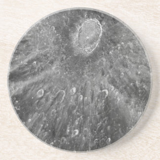 Lunar Impact Crater Tycho on Earth's Moon Drink Coaster