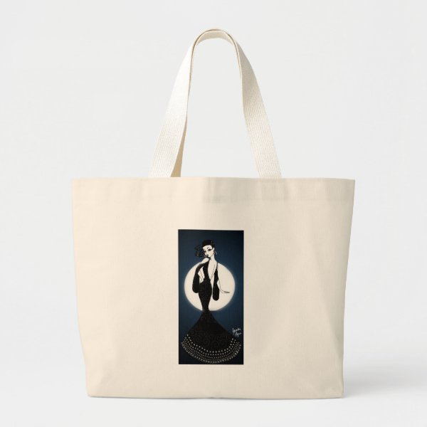 Lunar Lady Large Tote Bag