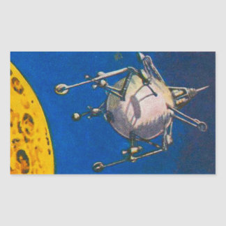 Lunar Lander Concept Rectangular Sticker