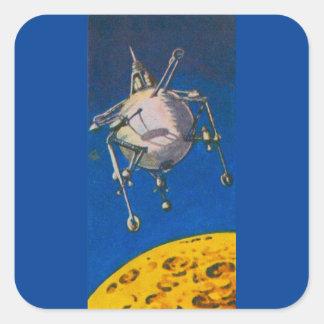 Lunar Lander Concept Square Sticker