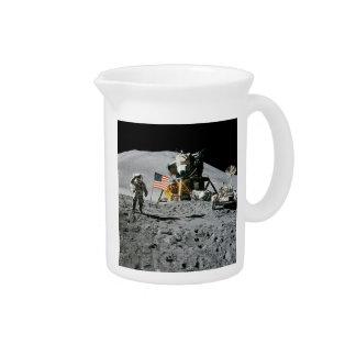 LUNAR LANDING SITE (Apollo misson) ~.jpg Drink Pitcher
