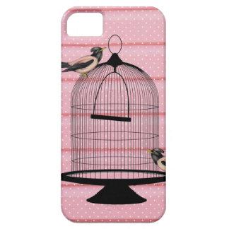lunar lindo hermoso de la jaula de pájaros del ros iPhone 5 Case-Mate cobertura