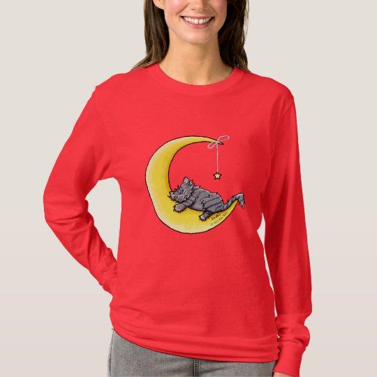 Lunar Love Gray Tabby Cat Shirt