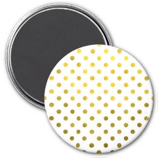 Lunar metálico de la hoja de oro en el modelo de imán redondo 7 cm
