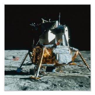 Lunar Module on the Moon Poster